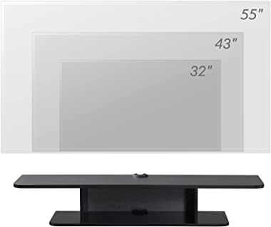 FITUEYES Floating TV Stand Wall Mounted Shelf Wood Media Console Component Entertainment Center Cabinet with Storage Desk Und