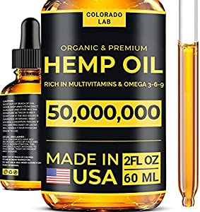 Organic & Premium Oil 50,000,000 mg - Omega 3 6 9 Benefits - 2 oz