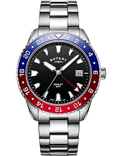 Rotary | bracciale in acciaio inossidabile da uomo | quadrante nero | GB05108/30