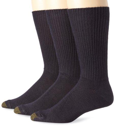 Gold Toe Herren Flauschige Crew-Socken, 3 Paar - Blau -