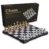 JooDaa Juego de ajedrez magnético de Viaje 20 20 5 con Juguetes educativos de Tablero Plegable, Adecuado para Todas Las Edades
