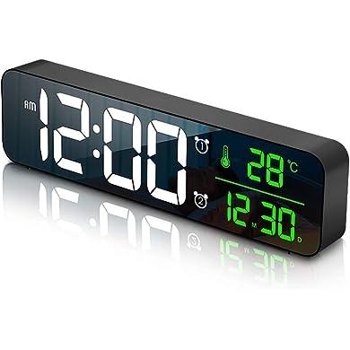 MOSUO Reloj Despertador Digital, Reloj de Pared con