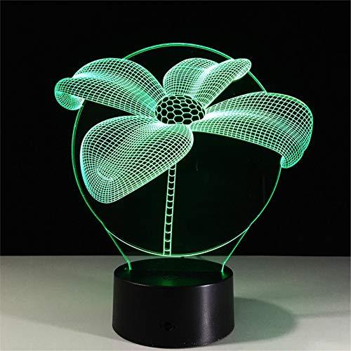 LBJZD nachtlicht Blume 3D Nachtlicht Touch Tisch Schreibtisch Lampen 7 Farbwechsel Lichter Mit Acryl Flat Für Home Decor Geschenk Für Freunde Kinder Ohne Fernbedienung