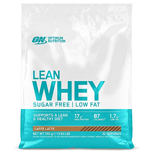Optimum Nutrition Lean Whey Protein Powder, Low Fat, Sugar Free Lean Protein with Vitamins and Minerals, Caffe Latte, 740 g, 32 Servings, Packaging May Vary