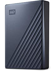 WD 4 TB My Passport Ultra, przenośny dysk twardy z ochroną hasłem i oprogramowaniem automatycznego tworzenia kopii zapasowych, USB-C gotowy - niebieski - Współpracuje z komputerami, Xbox X i PS4