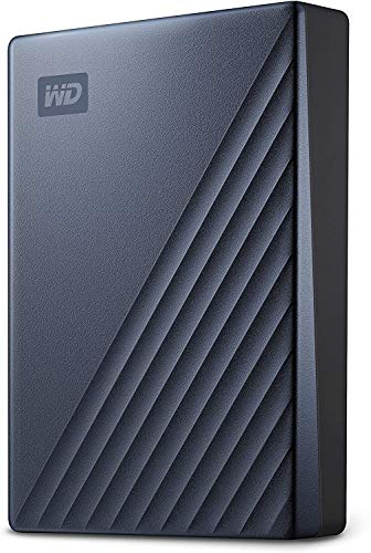 WD - My Passport Ultra 4To Bleu - Disque Dur Externe Portable USB-C, compatible PC , Xbox et PS4