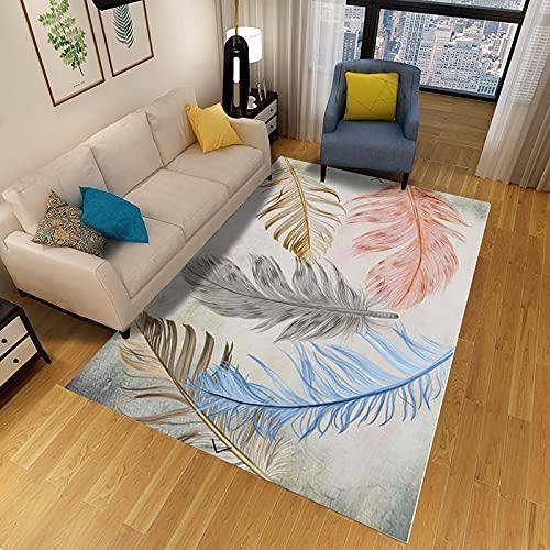 Alfombra De Estilo Nórdico Simple Y Fresco Alfombra Gruesa Antideslizante Impermeable Y Lavable Adecuada para Dormitorio Sala De Estar Pasillo