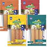 yakyYUM Himalayan Cheese Treats   Lactose Free - Gluten Free - Wheat Free -Soy Free  USA Made   All Flavors - Cheese-Chicken-Peanut-Bacon   4 Resealable Pouches