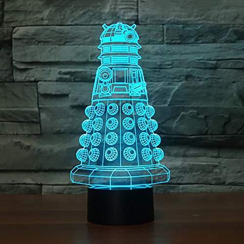 BFMBCHDJ 7 farben ändern 3d film gebäude nachtlicht usb tischlampe led visuelle atmosphäre lampen wohnkultur baby schlaf beleuchtung