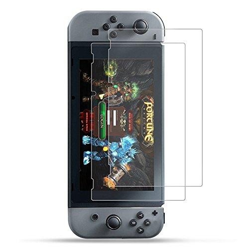 2-Unidades 2017 Nintendo Switch Protector de Pantalla Hepooy