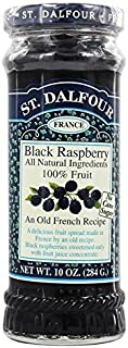 St. Dalfour Black Raspberry All Natural Ingredients 100% Fruit, 10oz (284g), 2 Pack