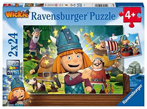 Ravensburger Kinderpuzzle 05070 - Unser kluges Köpfchen Wickie - 2 x 24 Teile