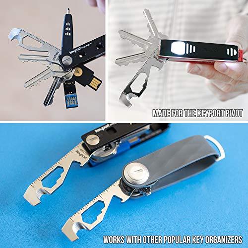 KeyportMoca10-in-1キーツール–キーチェーンmulti-tool(栓抜き–SCREWDRIVER–コードカッター–ボックスOpener–スコアリングツール–六角ビットドライバ–レンチX3–ルーラー)TSAFriendly、Keyportピボット互換