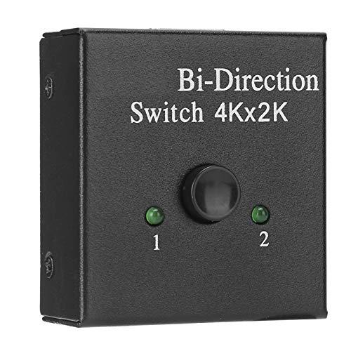 Kafuty-1 Convertidor bidireccional Conmutador HDMI con Extractor de Audio Divisor HDMI Adaptador de vídeo 1 Entrada 2 Salida(Negro)