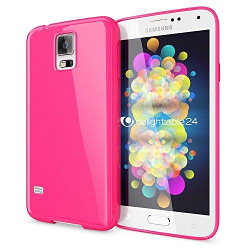 NALIA Custodia compatibile con Samsung Galaxy S5 S5 Neo, Cover Protezione Ultra-Slim Case Protettiva Morbido Cellulare in Silicone Gel, Gomma Jelly Telefono Bumper Sottile - Cipria