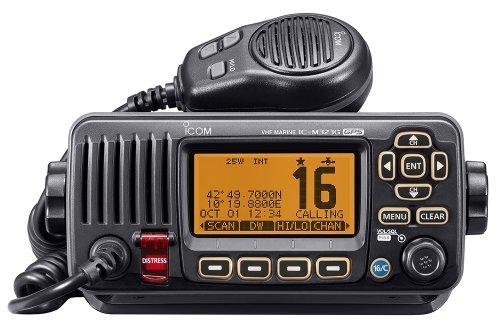 Icom IC-M323G # 35 náutico del transceptor VHF DSC Clase D con el sistema GPS Integradores blanco