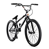 Mongoose Title Elite 24 BMX Race Bike with 24-Inch Wheels in Black for Advanced and Returning Riders, Featuring Professional-Grade 6061 Tectonic T1 Biaxial Hydroformed and Butted Aluminum Frame