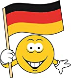 U24 Aufkleber Smily Deutschland Fahne Flagge Autoaufkleber Sticker Konturschnitt