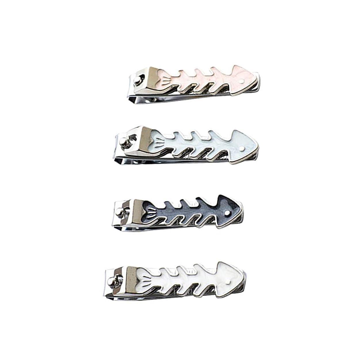 開発いたずら新着アーク口爪切り漫画の爪切り魚の骨の形の爪切り携帯便利男女兼用爪切り、ランダムな色
