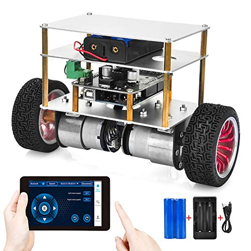 OSOYOO RC Two Wheel Self Balancing Robot Car Kit DIY Educational Programmable Starter Kit for Arduino Board, Bluetooth Remote Control by Android Smart Phone