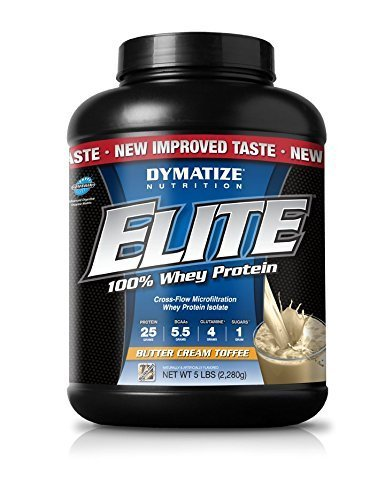 Dymatize Nutrition Elite Whey Shake, Butter Cream Toffee, 5 Pound by Dymatize Nutrition