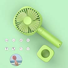 YXZQ Handheld Fan, Mini with Rechargeable 2500mah Battery and USB Cable with 3 Speeds Strong Airflow but Whisper Quiet for...
