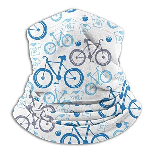 XCNGG Blue Bicycles Pattern Gesichtsmaske für Männer Frauen, Nahtlose Kopfbedeckung zum Angeln Yoga Motorradfahren