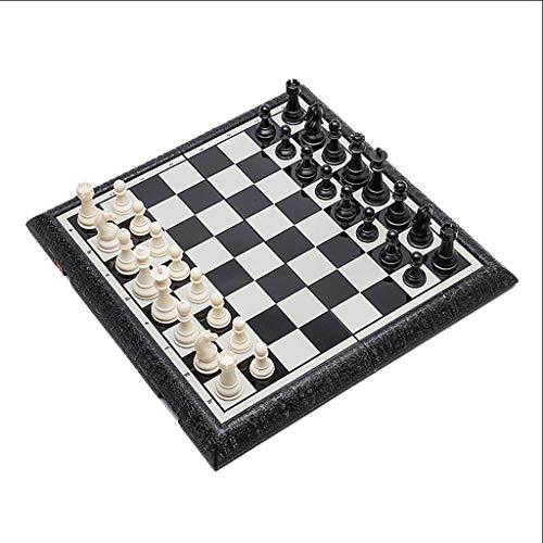 BIAOYU Juego de Ajedrez Set de ajedrez Internacional portátil Plegado de ajedrez de plástico magnético Juego Divertido Juego para la Fiesta Familiar Principiante Juego de Mesa (tamaño : 47cm)
