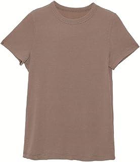 Energy Women's Solid-Colored Comfort Short Sleeve Basic Regular T-Shirt