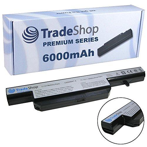6000mAh Trade-Shop Premium Series Li-Ion Akku 10,8V/11,1V für Schenker Notebook XMG A500 A501 A502 A701 A702 Advanced Xesia E500 (Original Akkuform, kein Überstehen, kein Schrägstellen)