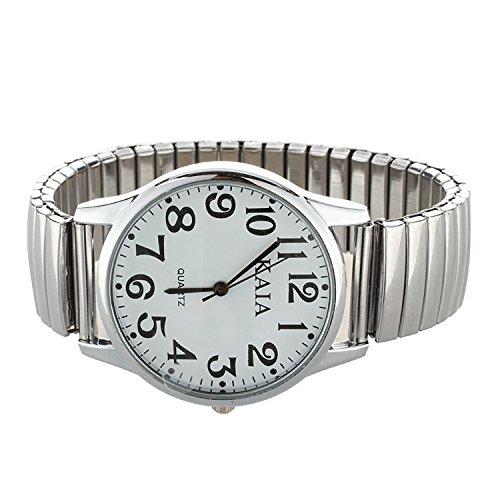 SODIAL(R) Reloj Pulsera Acero Inoxidable Elstico 36mm Elegante