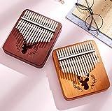 BCLGCF Kalimba Piano De Pulgar De 17 Teclas, Percusión De Dedo De Caoba Africana, Instrumento De Marimba, Regalos para Principiantes Amantes De La Música,Log
