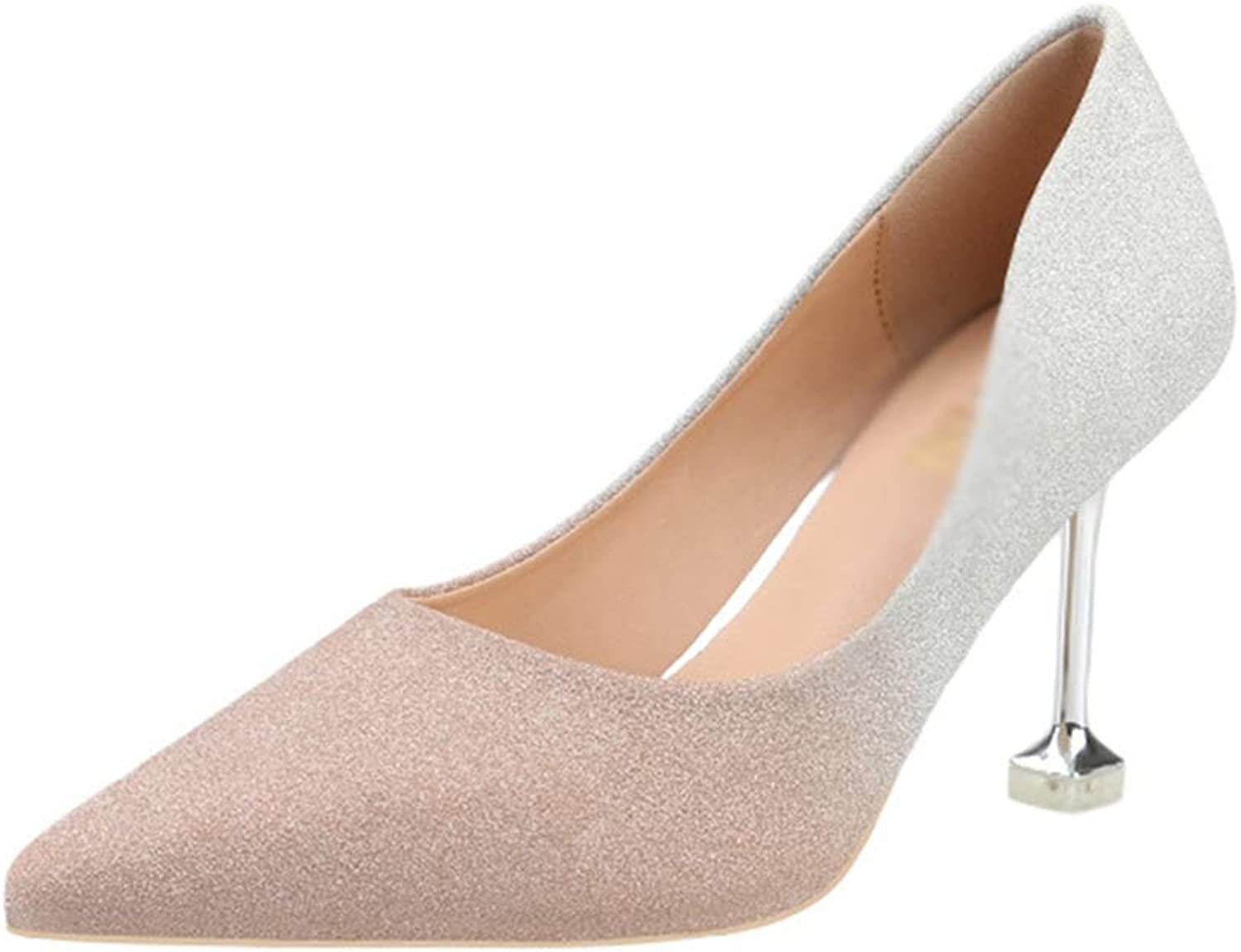 Drew Toby Women Pumps Gradient colors Sexy Shallow Mouth Pointed Toe Fashion High Heels