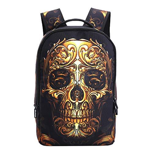 Unisexe 3D Sacs à Dos Sacs d'école de Grande capacité Imperméable Randonnée Sac à Dos Cool Sports Backpack Sac à Dos Anti-vol (Color : A08, Size : 31 X 15 X 48cm)
