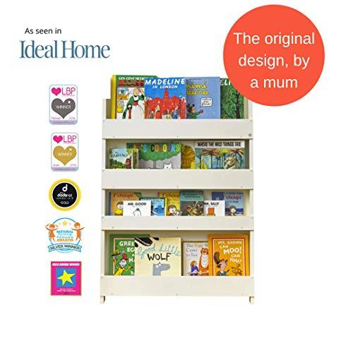 Tidy Books ® - Bücherregal Kinder | Cremeweiß | Wandregal Kinderzimmer | Montessori Material | Holzregal | 115 x 77 x 7 cm | Nachhaltig und Umweltfreundlich | Handgefertigt | Das Original seit 2004