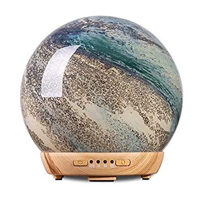 COOSA Essential Oil Diffuser, Handcrafted 250ml Aroma Diffuser Humidifier with Cool Mist,14 Colors Change Light,Waterless Auto Shut-Off for Baby Home Office?Globe?