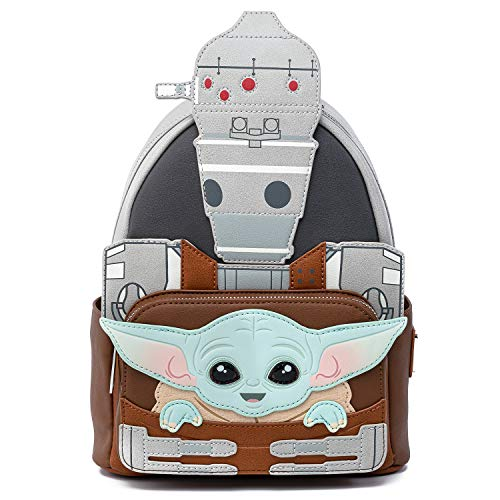 Loungefly: Star Wars The Mandalorian - The Child and IG88 Mini Cosplay Backpack, Fall Convention Exclusive (STBK0196)