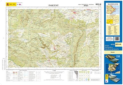 822-3 Parcent Mapa Topográfico Nacional 1:25.000
