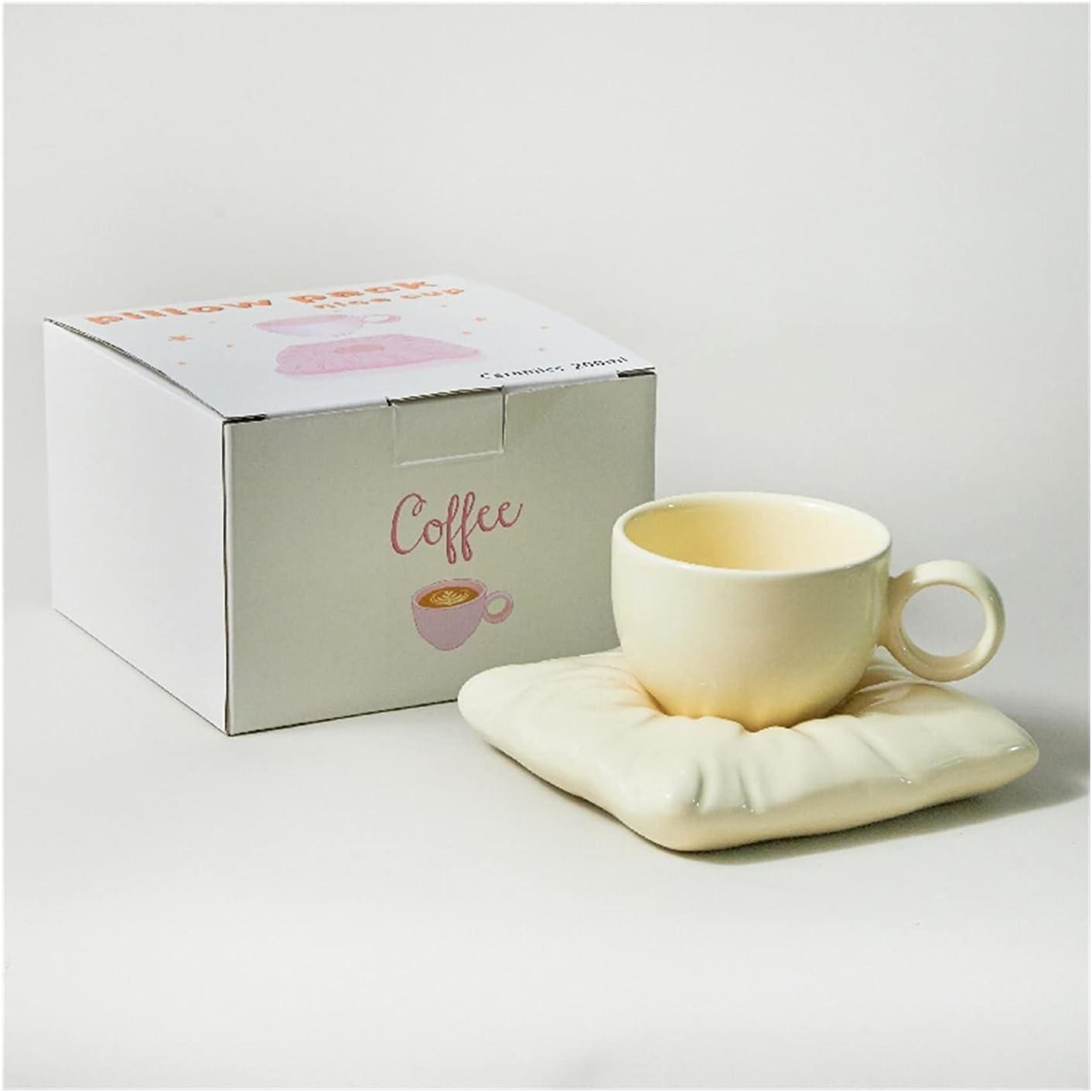 Coffee Mugs Ceramic Cup With supreme Pillow Max 68% OFF Coff Creative Coaster Couple