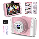WOWGO Kids Digital Camera - 12MP Children's Camera with Large Screen for Boys and Girls, 1080P Rechargeable Electronic Camera with 32GB TF Card