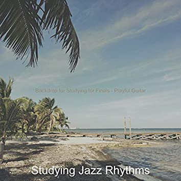 Backdrop for Studying for Finals - Playful Guitar