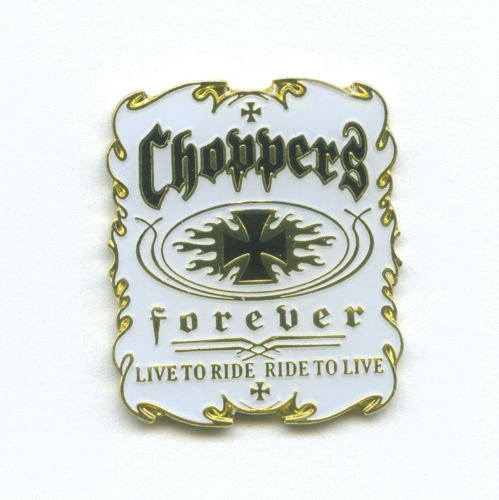 hegibaer Choppers Forever Biker Motorrad Fan Metall Button Badge Pin Pins Anstecker 0035