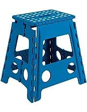 Acan Taburete Plegable PVC Infantil Multiuso MAX 150 kg (Azul, 29 x 22 x 39 cm)