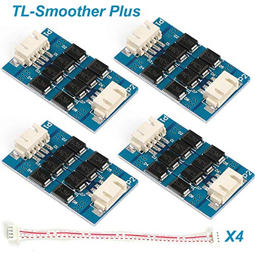 4pcs Filtro de accesorios de impresora 3D Módulo adicional TL-Smoother Plus para Eliminación de patrones Filtro de motor Filtro de recorte Controladores de motor 3D Pinter Terminator Reprap MK8 I3