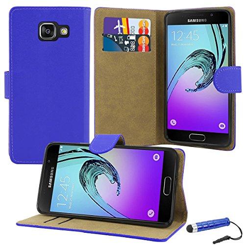 Funda de piel de primera calidad, con tapa y ranuras para tarjetas de crédito y dinero, compatible con Samsung Galaxy A3 2016, marca Case Collection®