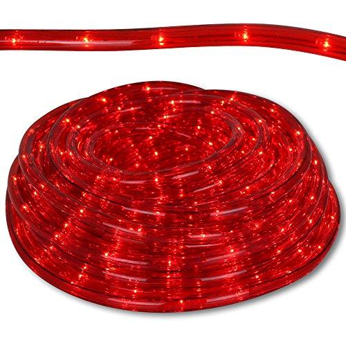 Lichterschläuche für Innen- und Außenbereich mit Modellauswahl Lichterschlauch rot oder weiß Lichterkette Schlauch wasserdicht Lichtschlauch strombetrieben (Rot, 24m)