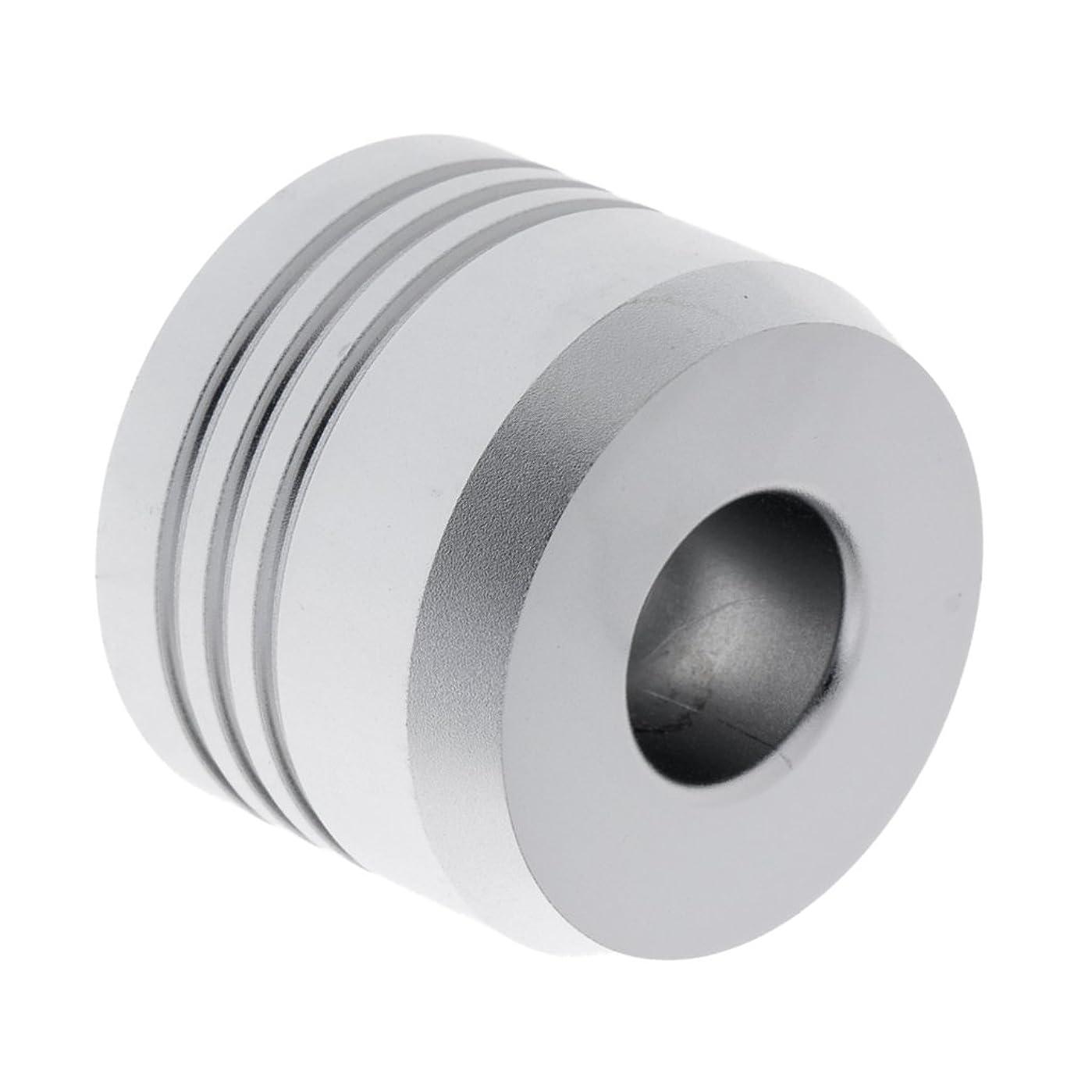 下手同化する集団的Kesoto セーフティカミソリスタンド スタンド メンズ シェービング カミソリホルダー サポート 調節可能 シェーバーベース 2色選べ   - 銀