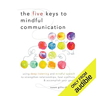 The Five Keys to Mindful Communication     Using Deep Listening and Mindful Speech to Strengthen Relationships, Heal Conflicts, and Accomplish Your Goals              Written by:                                                                                                                                 Susan Gillis Chapman                               Narrated by:                                                                                                                                 Gabra Zackman                      Length: 6 hrs and 38 mins     11 ratings     Overall 4.6