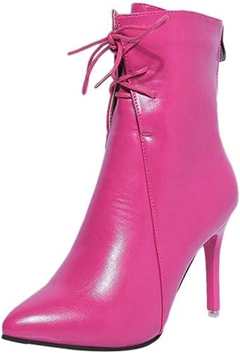 Oudan Bottes Chaussures Femme Bottines Escarpins Bottes à Talons Hauts Sandales de Printemps Chaussures Bottes à Bout Pointu élégantes Bottes à Talon compensé à Tige Courte