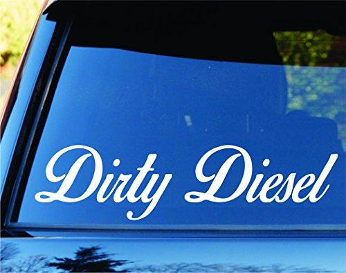 Dabbledown Decals Small Version Dirty Diesel Car Truck Window Windshield Lettering Decal Sticker Decals Stickers JDM Drift Dub Vw Lowered Jdm Fresh Detailed Stance Fitment 4x4